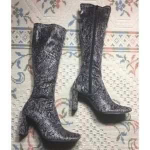 Chinese Laundry Glamour Faux Snakeskin Boots
